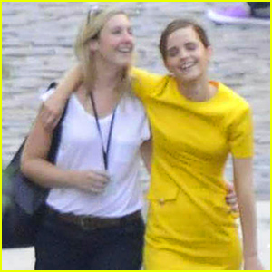 Emma Watson Gets Buddy Buddy with Her Gal Pal on 'Colonia Dignidad' Set!