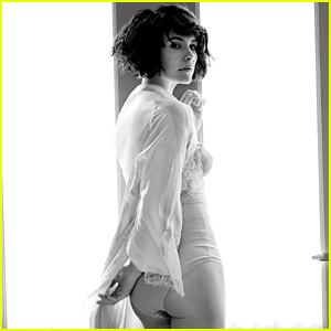 Evangeline Lilly Strips Down to Her Lingerie, Partially Exposes Her Bottom for 'Esquire'