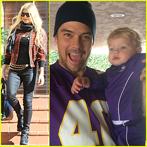 Fergie's Son Axl is Cute As a Button on Football Game Day