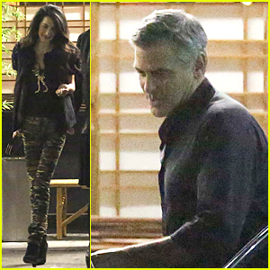 George & Amal Clooney Step Out For Dinner After False Baby Rumors