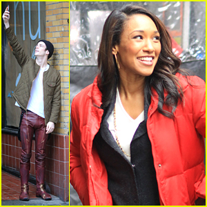 Grant Gustin & Candice Patton Wrap Up 'Flash' Production For The Holidays