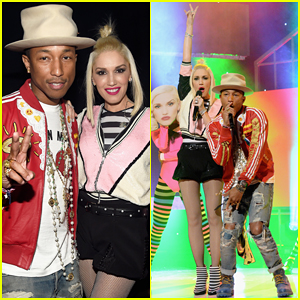 Gwen Stefani & Pharrell Williams Perform 'Spark the Fire' at People Mag Awards 2014 - Watch Here!