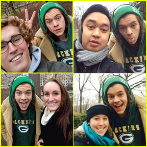 Harry Styles Gets Super Silly with Fans in Central Park (Photos)