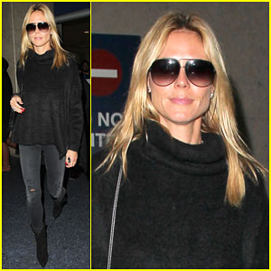 Heidi Klum is Back in L.A. After Trip with Boyfriend Vito Schnabel