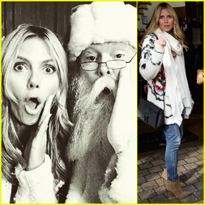 Heidi Klum Sits on Naughty Santa's Lap - See the Photo!