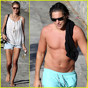 Heidi Klum & Shirtless Beau Vito Schnabel Vacation in St. Barts For Holidays