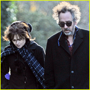 Helena Bonham Carter & Tim Burton Grab Friendly Lunch with the Family Following Split