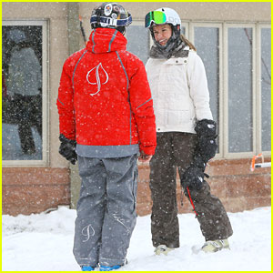 Hilary Swank & Her Boyfriend Laurent Fleury Hit the Slopes