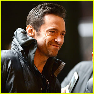 Hugh Jackman Doesn't Let the Cold Keep Him From His Fans