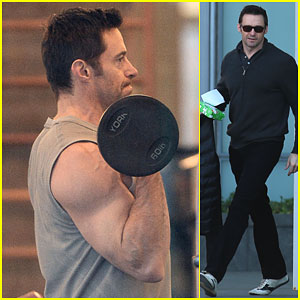 Hugh Jackman Shows Off His Massive Muscles During a Morning Workout