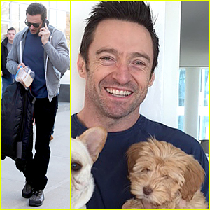Hugh Jackman Names Adorable New Puppy Allegra!
