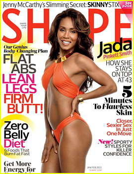 Jada Pinkett-Smith Shows Off Her Amazing Abs in a Sexy Swimsuit for 'Shape'