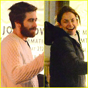 Jake Gyllenhaal & Ruth Wilson Share a Laugh After Rehearsal
