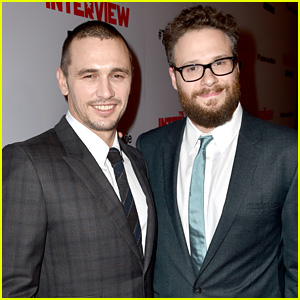 James Franco & Seth Rogen Suit Up for 'The Interview' Premiere