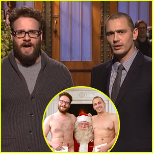 James Franco & Seth Rogen Share Nude 'Leaked Photos' on 'Saturday Night Live' (Video)