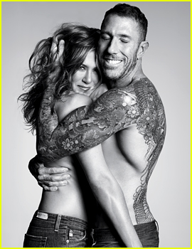 Jennifer Aniston Goes Topless with Her Hairstylist for 'Allure'