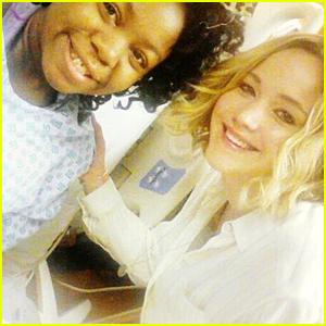 Jennifer Lawrence Visits a Children's Hospital on Christmas Eve