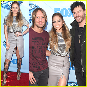 Jennifer Lopez's High Slit Skirt Goes Way Up There at 'American Idol XIV' Event