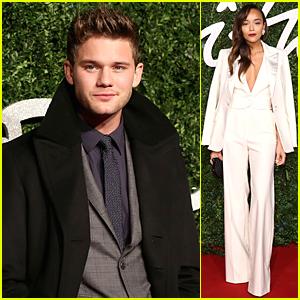 Jeremy Irvine & Ashley Madekwe Look Amazing in Suits at British Fashion Awards