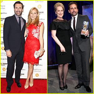 Jon Hamm & Steve Carell Bring Suit & Tie to Gotham Awards