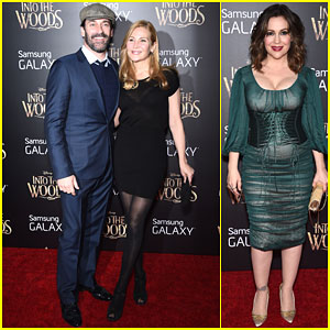 Jon Hamm Brings Along Jennifer Westfeldt for the 'Into the Woods' Premiere