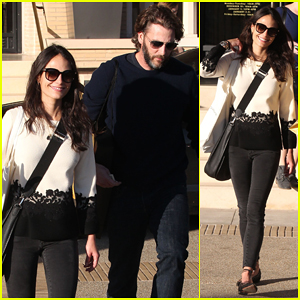 Jordana Brewster & Hubby Andrew Form Take Care of Last Minute Holiday Shopping at Barneys!