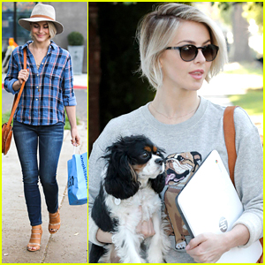 Julianne Hough Is A Cute & Casual Kitson Shopper