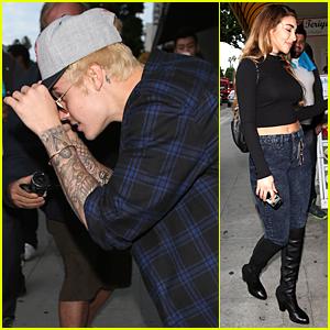 Justin Bieber & Chantel Jeffries Reunite at Shots App Event