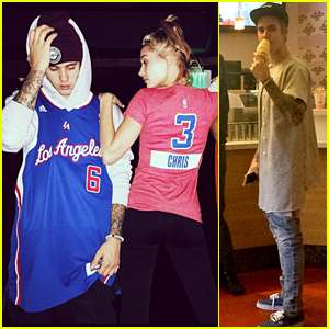 Justin Bieber Hits the Clippers Game with Pal Hailey Baldwin