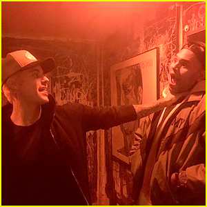 Justin Bieber Jokingly Strangles Chris Brown in an Instagram Pic