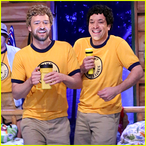 Justin Timberlake & Jimmy Fallon Play Teenage Camp Buddies in Hilarious 'Tonight Show' Skit (Video)