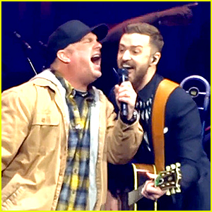Justin Timberlake Sings a Duet with His Idol Garth Brooks (Video)
