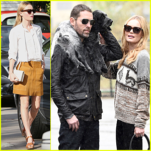 Kate Bosworth & Michael Polish Are One Happy Family on Gloomy Day