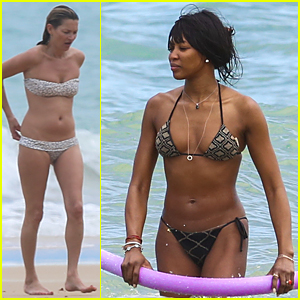 Kate Moss & Naomi Campbell Flaunt Sexy Bikini Bodies in Their 40s