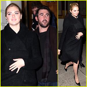 Kate Upton & Boyfriend Justin Verlander Brave the NYC Cold