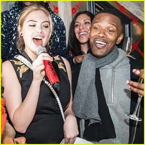 Kate Upton Helps Jamie Foxx Celebrate His 47th Birthday at Avenue in New York!