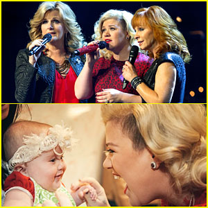 Kelly Clarkson Sings 'Silent Night' with Reba McEntire & Trisha Yearwood - Watch Here!