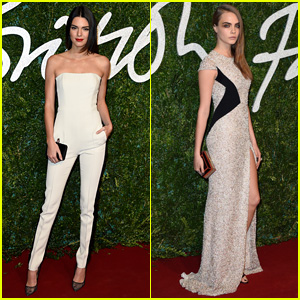 Kendall Jenner Packs Pal Cara Delevingne in Her Luggage for British Fashion Awards 2014