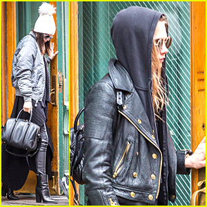 Kendall Jenner & Cara Delevingne Leave Taylor Swift's Apartment Together in NYC