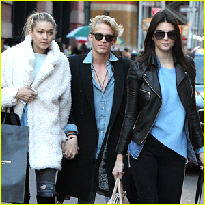 Kendall Jenner Goes Shopping in Soho with Gigi Hadid & Cody Simpson!