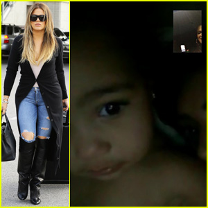 Khloe Kardashian Facetimes with Niece North West - See the Pic!