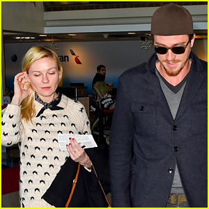 Kirsten Dunst & Garrett Hedlund Head Out of Town Ahead of New Year's Eve