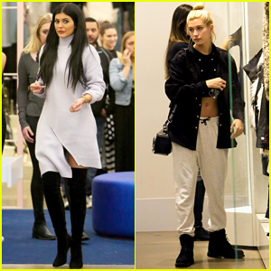 Hailey Baldwin Misses Flight After Shopping with Kylie Jenner