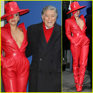 Lady Gaga Dons Fierce Red Face Mask for 'GMA' Appearance with Tony Bennett (Video)