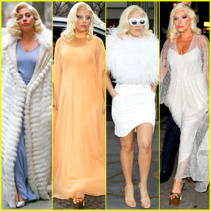 Lady Gaga Wore Four Amazing Outfits in One Day Yesterday