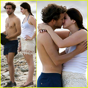 Lana Del Rey Shares Beach Kiss with Her Shirtless Boyfriend!