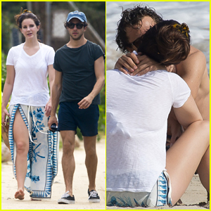 Lana Del Rey & Shirtless Francesco Carrozzini Share Passionate Kiss in St. Barts!
