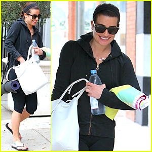 Lea Michele Dresses Down For Yoga Session After THR Breakfast