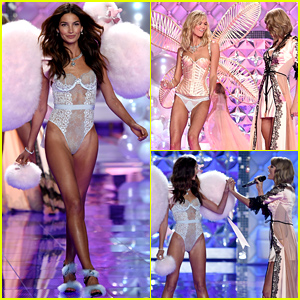 Lily Aldridge & Karlie Kloss Both Share Moments with Bestie Taylor Swift on the Victoria's Secret Fashion Show Runway!