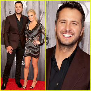Luke Bryan & Wife Caroline Boyer Pose for Pictures at the American Country Countdown Awards 2014